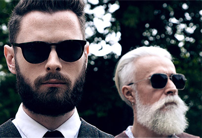 Bearded men in Oliver Goldsmith Sunglasses