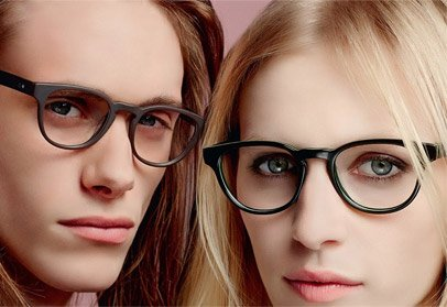 man and woman wearing Paul Smith acetate optical frames