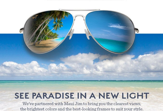 Maui Jim Blue Hawaii mirrored aviator sunglasses