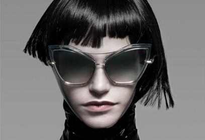 Woman wearing Dita Sunglass Creature