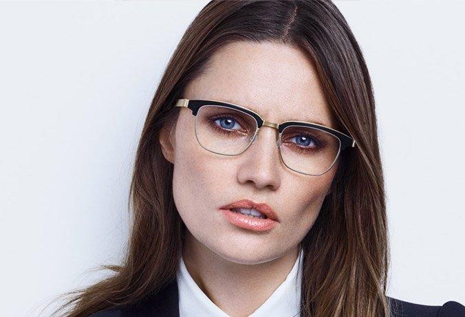 Lindberg strip eyewear acetate across brow